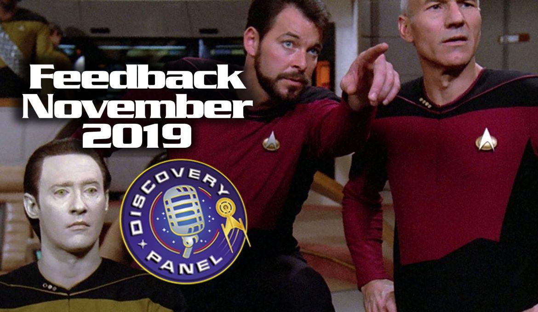 Feedback: November 2019