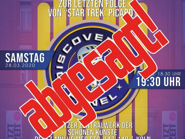 Live-Event abgesagt